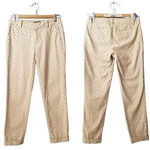Tommy Hilfiger Beige Polka Dot Pants Size 0